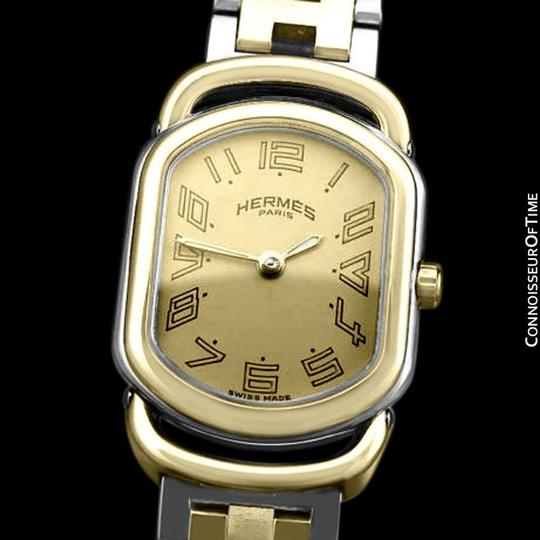 Hermès Hermes Rallye Ladies Bracelet Watch - 18K Gold Plated and Stainless St Image 2