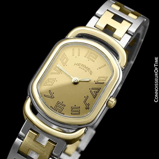 Hermès Hermes Rallye Ladies Bracelet Watch - 18K Gold Plated and Stainless St Image 3