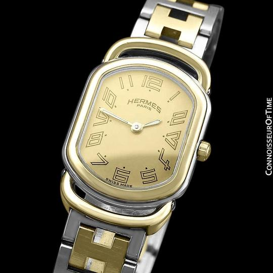 Hermès Hermes Rallye Ladies Bracelet Watch - 18K Gold Plated and Stainless St Image 4