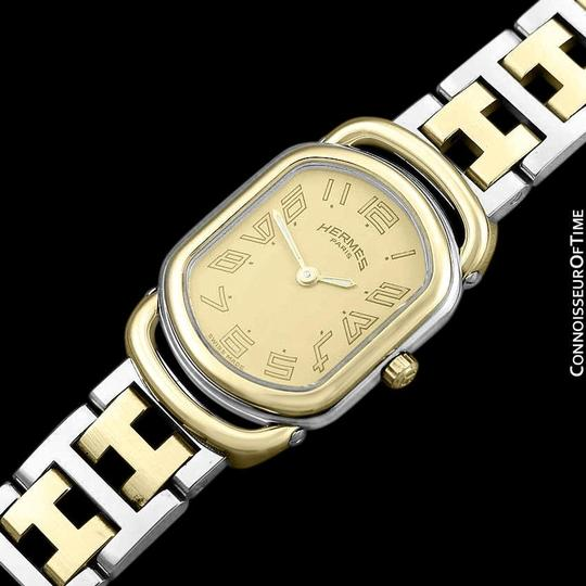 Hermès Hermes Rallye Ladies Bracelet Watch - 18K Gold Plated and Stainless St Image 5