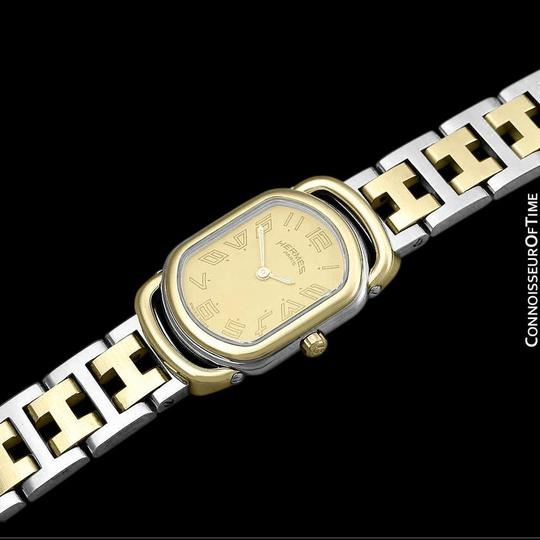 Hermès Hermes Rallye Ladies Bracelet Watch - 18K Gold Plated and Stainless St Image 8