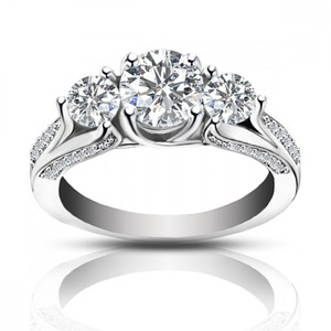 Madina Jewelry White 2.25 Ct Ladies One Of A Kind Diamond Engagement Ring