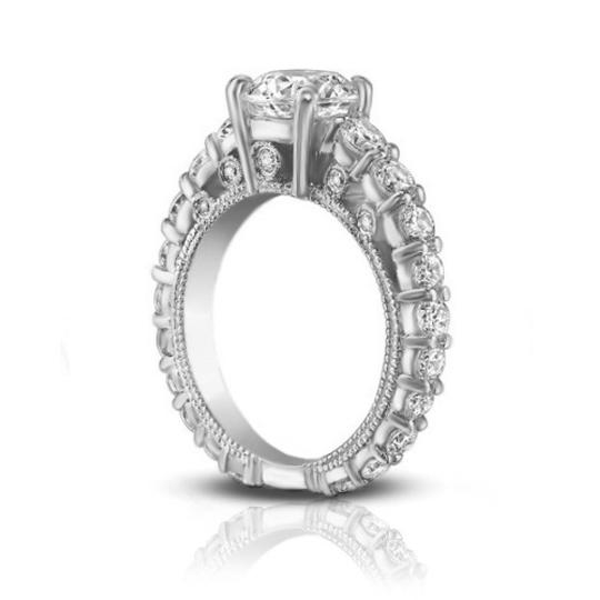 Madina Jewelry White 2.25 Ct Ladies Round Cut Diamond Accented Engagement Ring Image 4