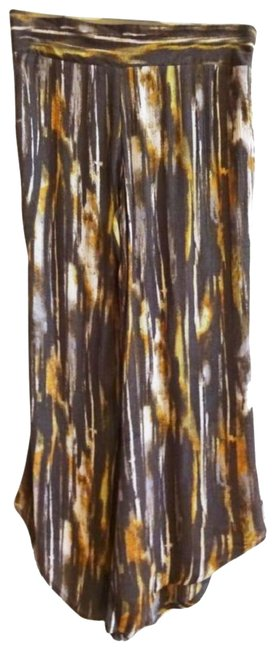 Free People Pull On Easy Fit Breezy Smock Waist Comfy Waist Flare Pants Brown Image 2