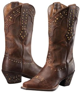 Ariat Brown, Gold, Silver, Metallic Boots