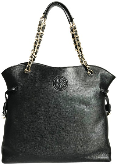 Preload https://img-static.tradesy.com/item/23942365/tory-burch-bombe-slouchy-black-pebbled-leather-tote-0-1-540-540.jpg