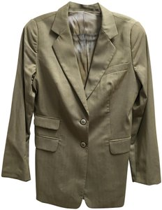 Escada Jacket Long Sleeved Lined Made In Italy Two Buttons Tan Blazer