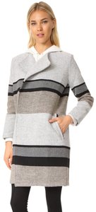 cupcakes and cashmere Striped Pea Coat