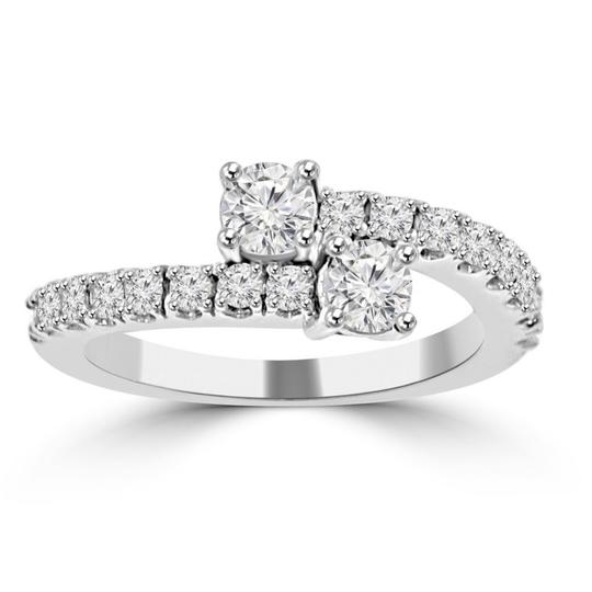 Preload https://img-static.tradesy.com/item/23942539/madina-jewelry-white-095-ct-ladies-round-cut-diamond-anniversary-band-ring-0-0-540-540.jpg