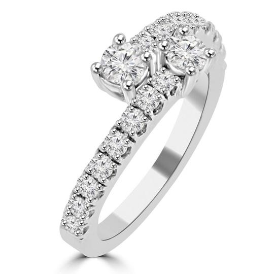 Madina Jewelry White 0.95 Ct Ladies Round Cut Diamond Anniversary Band Ring Image 1