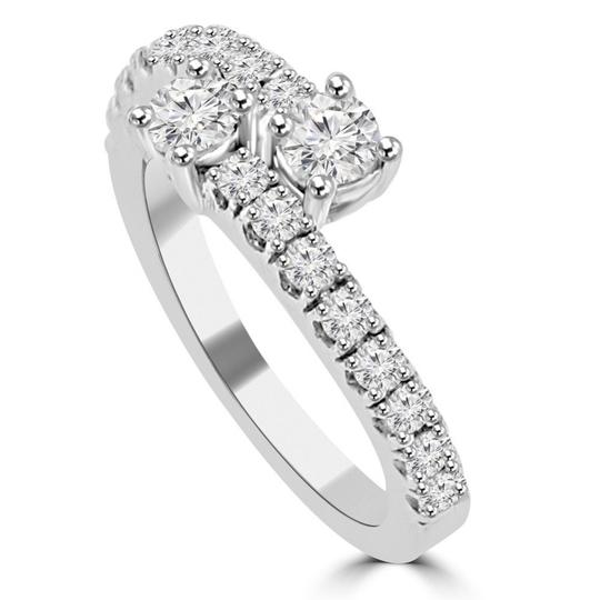 Madina Jewelry White 0.95 Ct Ladies Round Cut Diamond Anniversary Band Ring Image 2
