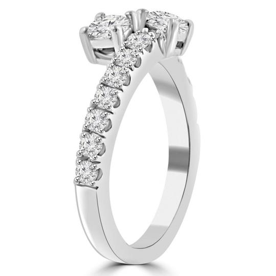 Madina Jewelry White 0.95 Ct Ladies Round Cut Diamond Anniversary Band Ring Image 3