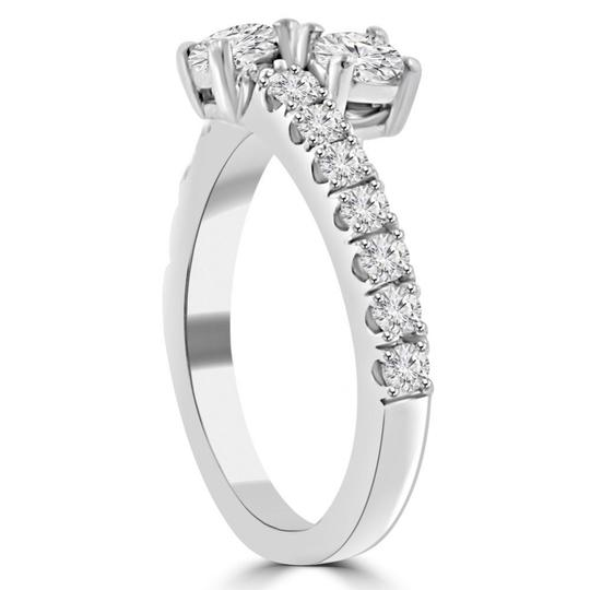 Madina Jewelry White 0.95 Ct Ladies Round Cut Diamond Anniversary Band Ring Image 4