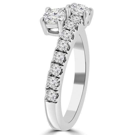 Madina Jewelry White 0.95 Ct Ladies Round Cut Diamond Anniversary Band Ring Image 5