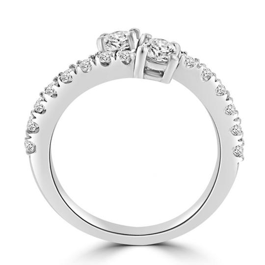 Madina Jewelry White 0.95 Ct Ladies Round Cut Diamond Anniversary Band Ring Image 6