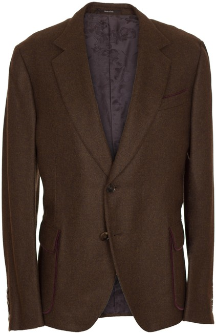 Preload https://img-static.tradesy.com/item/23942596/gucci-brown-men-s-cashmere-two-button-jacket-blazer-size-12-l-0-1-650-650.jpg