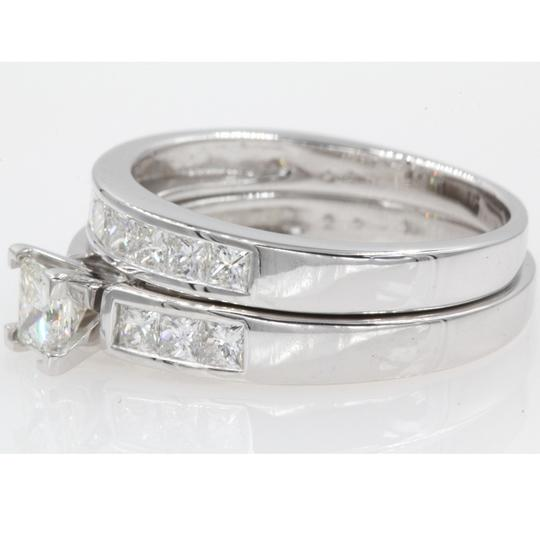 14k White Gold Gia Certified 1.30 Ct Princess Cut Channel Set Engagement Ring Image 1