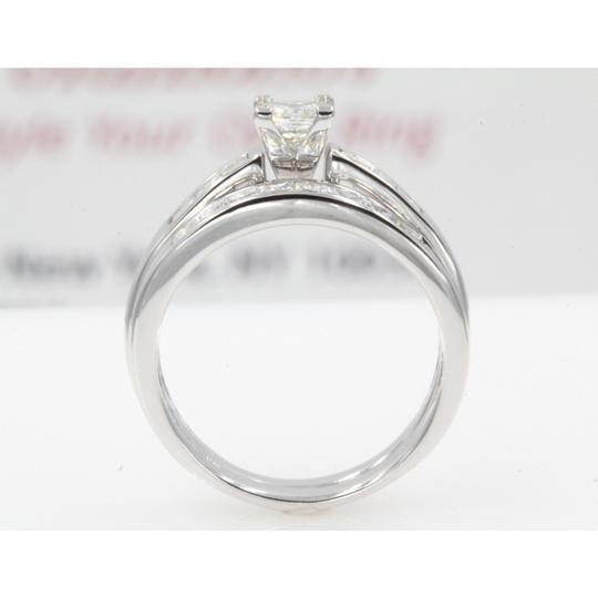14k White Gold Gia Certified 1.30 Ct Princess Cut Channel Set Engagement Ring Image 2