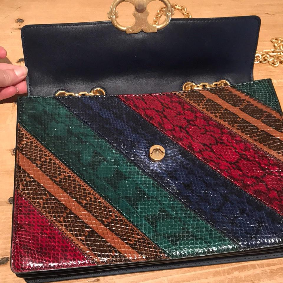 accf31796d7d Tory Burch Gemini Link Chain Snake-embossed Multicolored Embossed Leather  Shoulder Bag - Tradesy