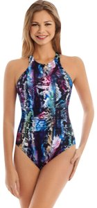 Miraclesuit Magicsuit by Miraclesuit Boa Danika Snakeskin Print One Piece Swimsuit