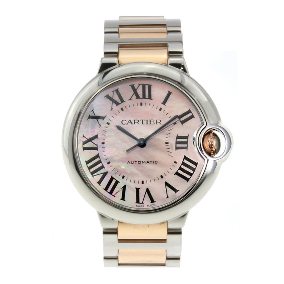 8cb3d4ac8039 Cartier Cartier Ballon Bleu Ladies Stainless Steel Pink Dial 33mm W6920070  Image 0 ...
