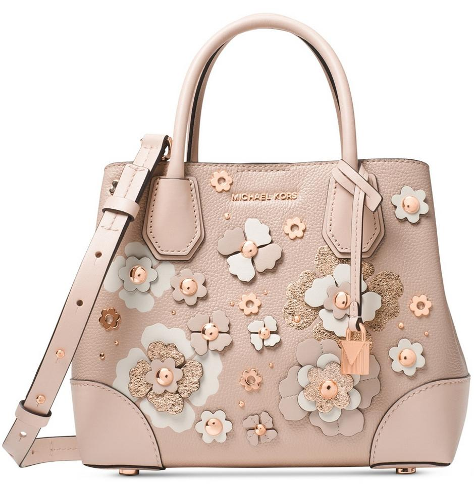 c0a465094ca2 Michael Kors Mercer Gallery Small with Rosegold Pink Leather Satchel ...