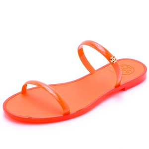 Tory Burch Tb Logo Slide POPPY CORAL ORANGE Sandals