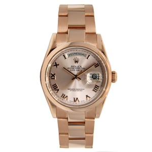 Rolex Rolex Day Date Domed Beze Rose Gold with Roman Numeral Dial 36mm 11820