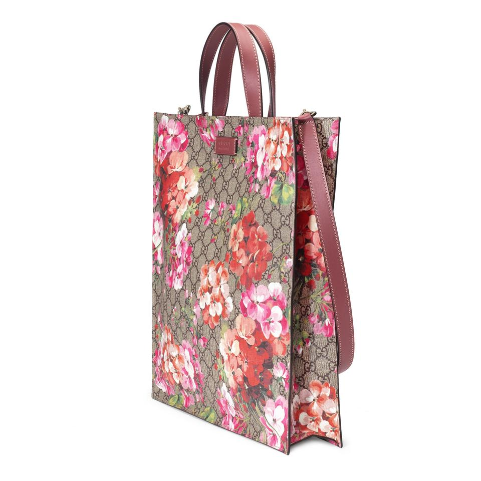 45663ffec61eb1 Gucci Gg Guccissima Blooms Supreme Soft Travel Multicolor Canvas Tote -  Tradesy