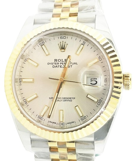Preload https://img-static.tradesy.com/item/23943722/rolex-silver-datejust-ii-steel-and-yellow-dial-41mm-new-watch-0-2-540-540.jpg