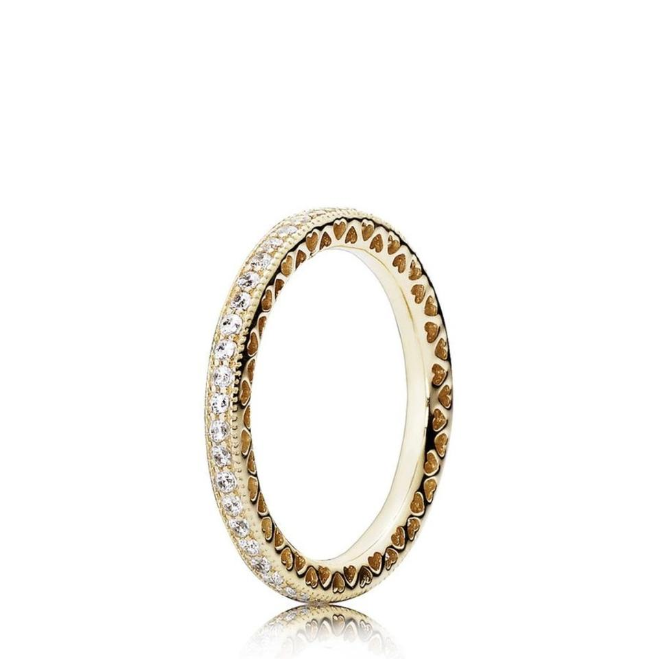 322eb57f1 PANDORA Yellow Gold Hearts Of 150281cz50 and Alluring Brilliant. Ring