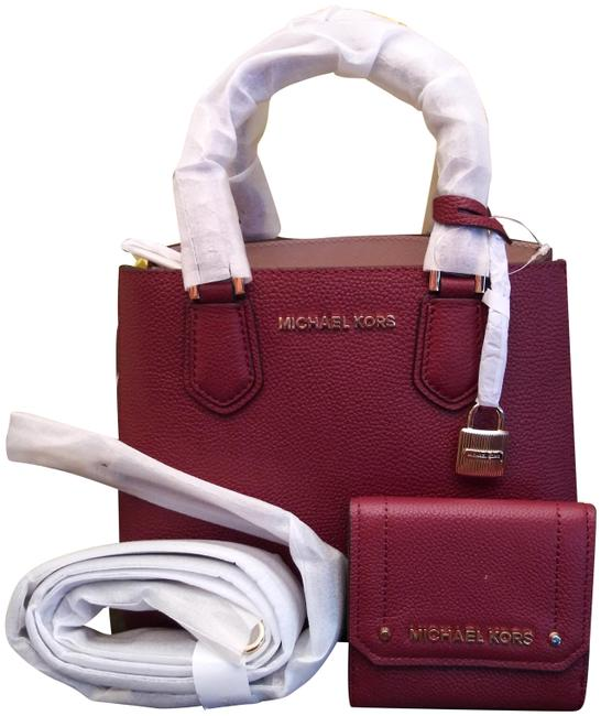 Item - Messenger Adele and Medium Hayes Tri Fold Wallet Set Purple Leather Tote