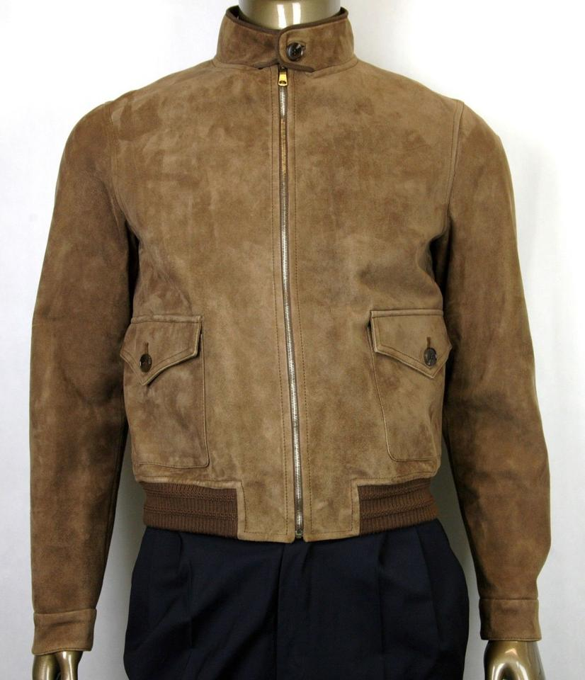 220d0354e30 Gucci Brown Men's Bengal Suede Bomber Jacket It 54r/Us 44r 408372 2471 Groomsman  Gift ...