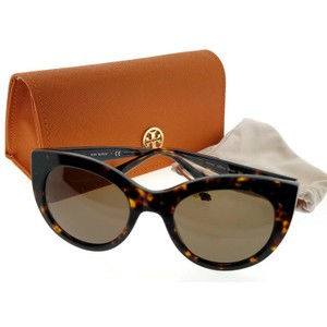 8ded0b4c5f24 Tory Burch TY7115-137873-51 Cat Eye Women's Tortoise Frame Brown Lens  Sunglasses