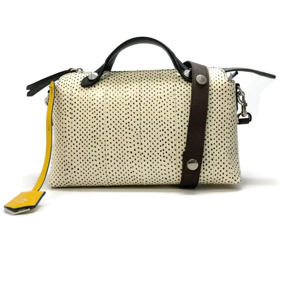 Fendi By The Way Ivory   Black Snakeskin Leather Cross Body Bag ... 5a7bf99b36893