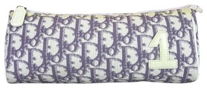 Dior Purple Trotter Print Cosmetic Pouch