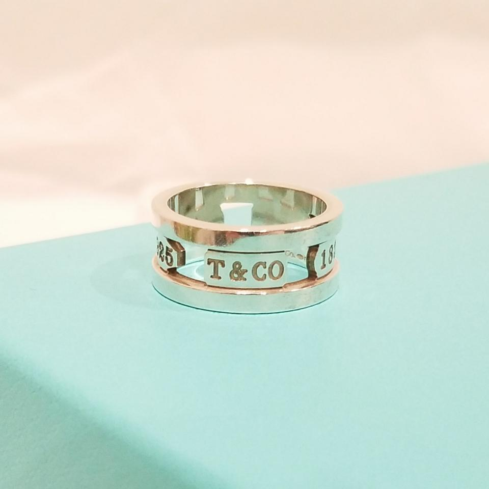 5676d4294 Tiffany & Co. Retired 1837 cutout ring Image 5. 123456. 1 ∕ 6