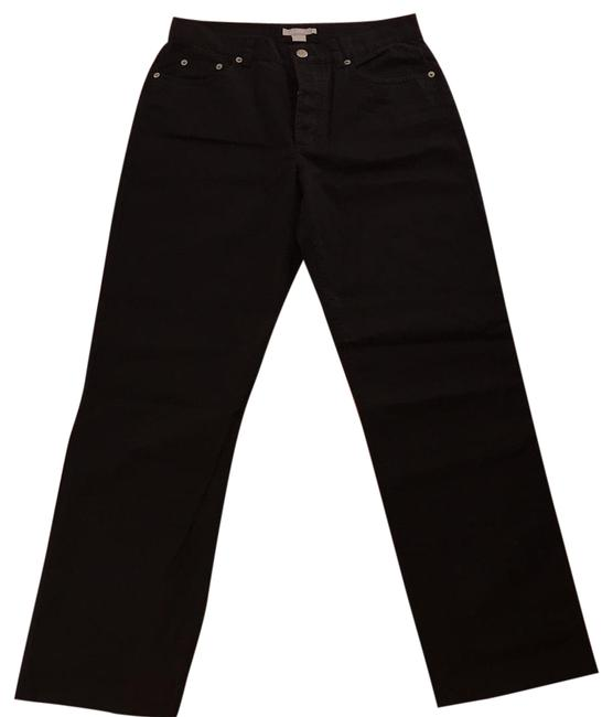 Item - Black Twill Button High Waisted Fly Fit Pants Size 8 (M, 29, 30)