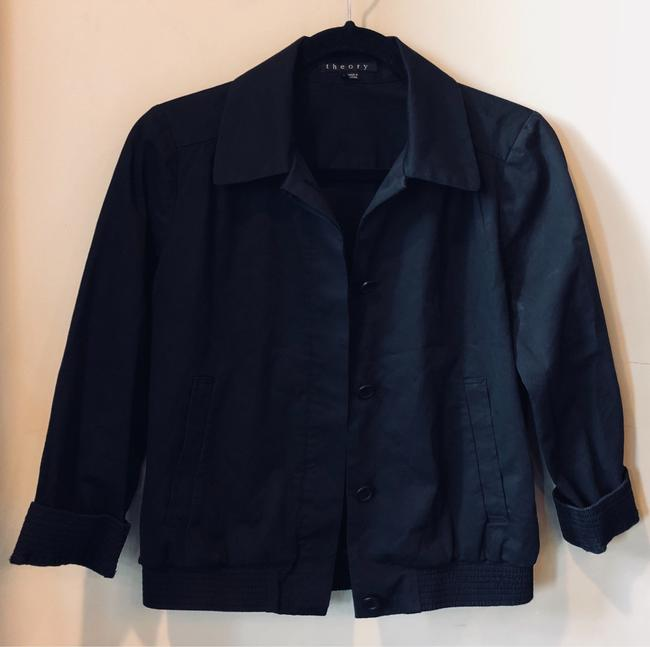 Theory Cotton Button Down Shirt Black Image 2