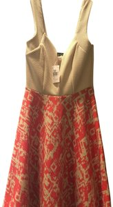 Beware short dress Beige and coral on Tradesy
