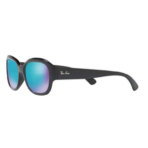 8670cfe40a670 Ray-Ban Ray Ban Black Square Women RB4282CH 601 A1 Plastic Blue Polarized  Lens