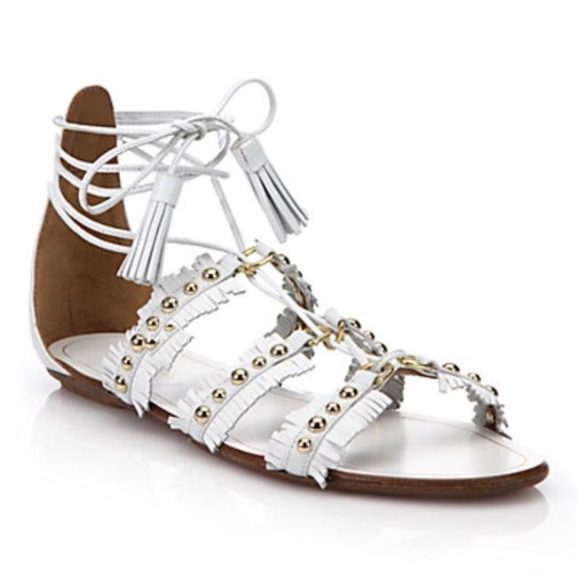 Aquazzura White Lace Up Sandals Size US 8 Regular (M, B) Aquazzura White Lace Up Sandals Size US 8 Regular (M, B) Image 1