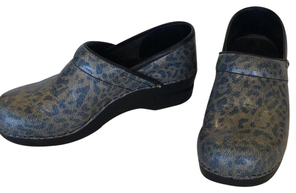 women Sanita Blue Cheetah Cheetah Blue Mules/Slides Repair 620d85