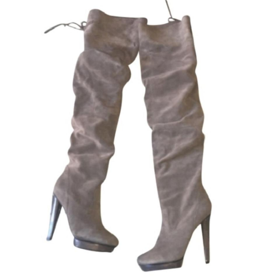 6f57aa33f307da Steve Madden Grey Suede Xenonn Over-the-knee Boots/Booties Size US ...