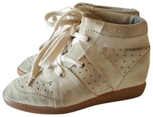 Isabel Marant Sneakers Suede 38 Off White Bobby Ivory Wedges