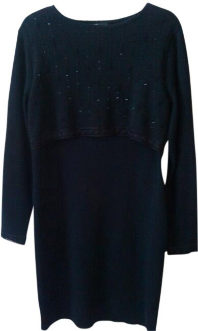 Preload https://item1.tradesy.com/images/carole-little-black-early-1980s-vintage-sweater-with-beadwork-knee-length-cocktail-dress-size-12-l-23945-0-0.jpg?width=400&height=650