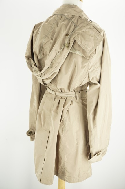 Burberry Brit Beige Sisal Polyester Balmoral Hooded Double Breasted Check Coat Size 14 (L) Burberry Brit Beige Sisal Polyester Balmoral Hooded Double Breasted Check Coat Size 14 (L) Image 7