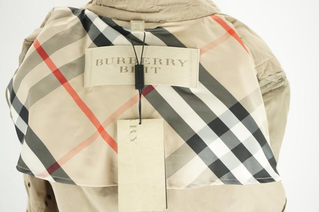 Burberry Brit Beige Sisal Polyester Balmoral Hooded Double Breasted Check Coat Size 14 (L) Burberry Brit Beige Sisal Polyester Balmoral Hooded Double Breasted Check Coat Size 14 (L) Image 10