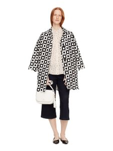 Kate Spade Fall Leopard Animal Print Bomber Trench Coat