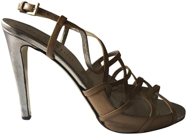 Item - Nude and Gold Caged Sandals Size EU 40.5 (Approx. US 10.5) Regular (M, B)